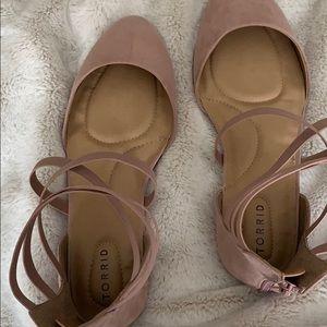 Pink closed toed gladiator sandals, nwot